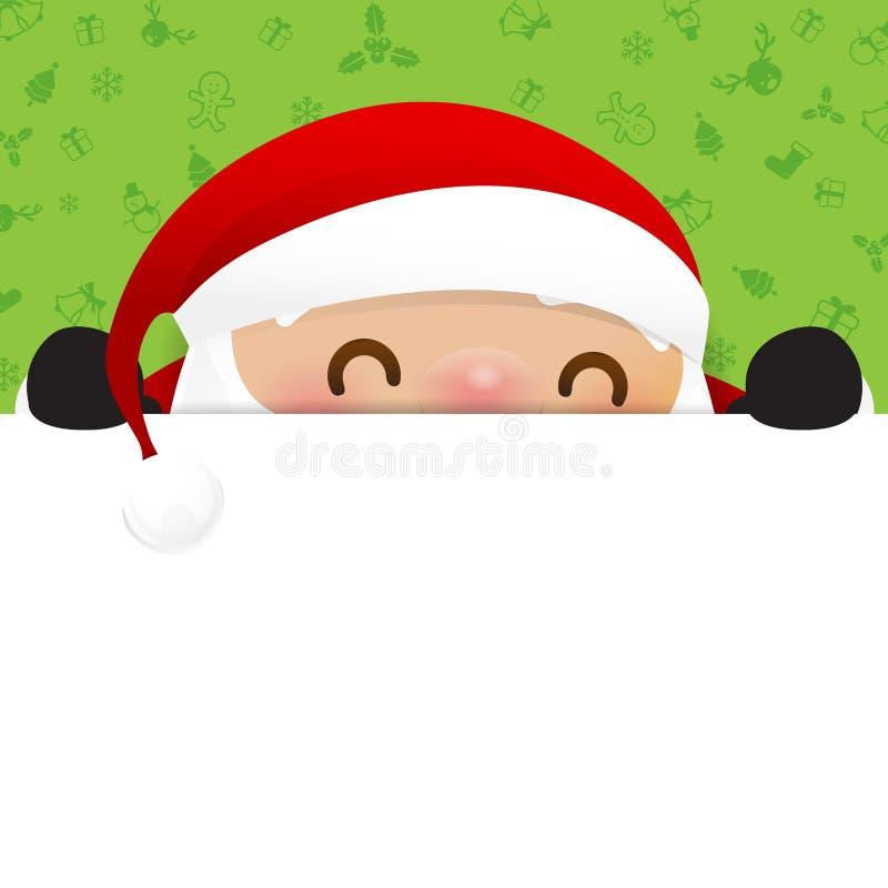 Het beeldverhaalglimlach van de Kerstman van de Kerstmissneeuwman op witte achtergrond vector illustratie