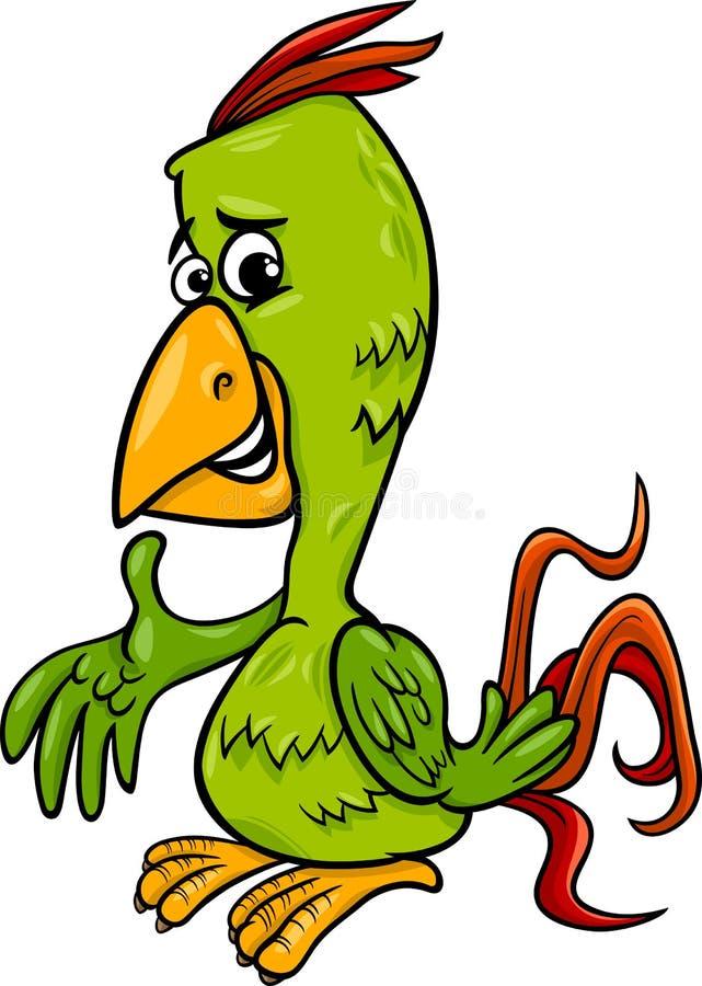 Het beeldverhaalillustratie van de papegaaivogel stock illustratie