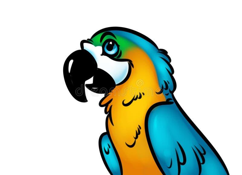 Download Het Beeldverhaalillustratie Van De Vogelpapegaai Stock Illustratie - Illustratie bestaande uit grafiek, papegaai: 54081395