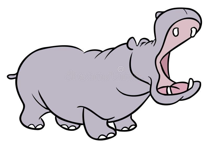 Het beeldverhaalillustratie van het nijlpaard royalty-vrije illustratie