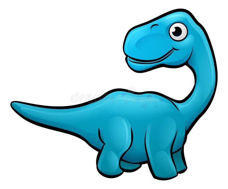 Het Beeldverhaalkarakter van de Diplodocusdinosaurus vector illustratie