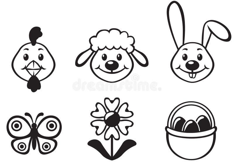 Het beeldverhaalreeks van Pasen vector illustratie