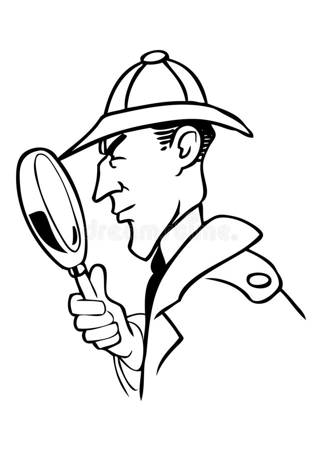 Het beeldverhaalvector van Holmes van Sherlock vector illustratie