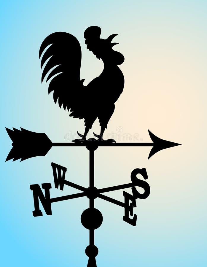 Download Het Beeldverhaalwindwijzer Van De Haan Vector Illustratie - Afbeelding: 23816610