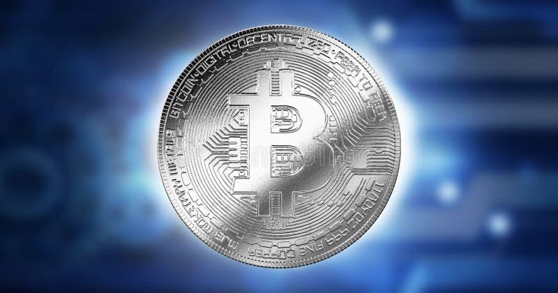 Het Beetje van Bedrijfs bitcoincryptocurrency Digitaal concept, de Gegevenstechnologie van de Innovatiecomputer, de toekomstige a stock illustratie