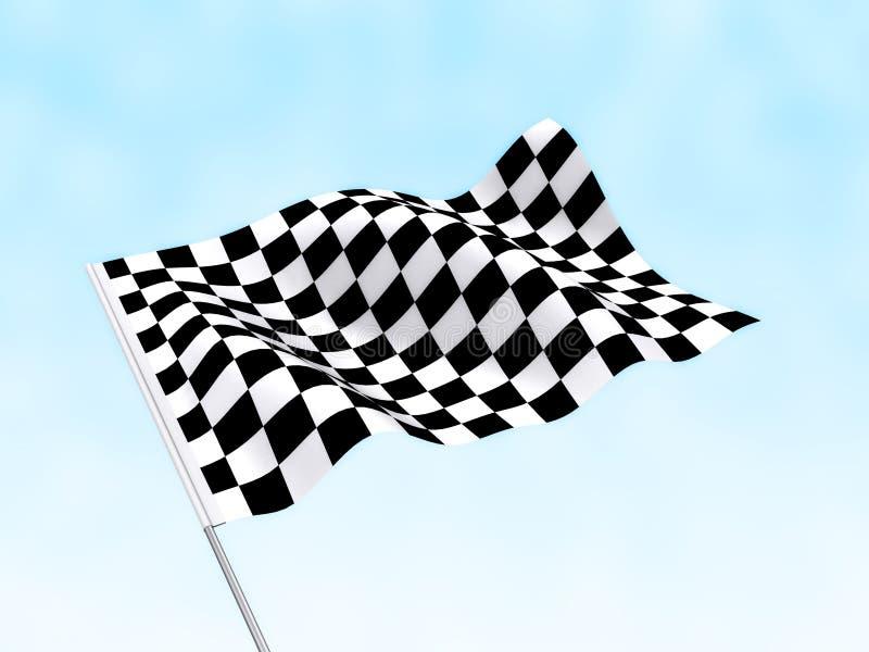Het begin beëindigt Vlag royalty-vrije illustratie