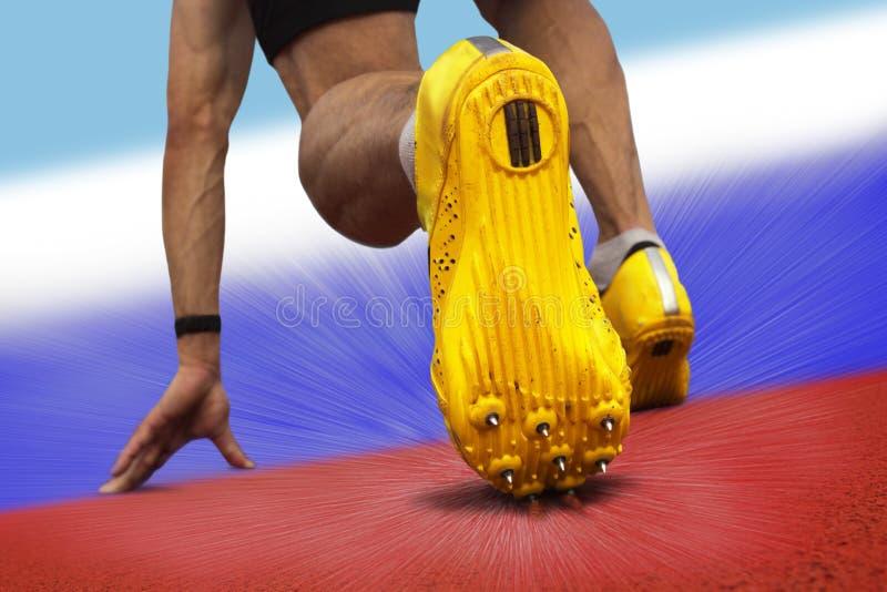 Het beginpositie van de sprinter royalty-vrije stock foto's