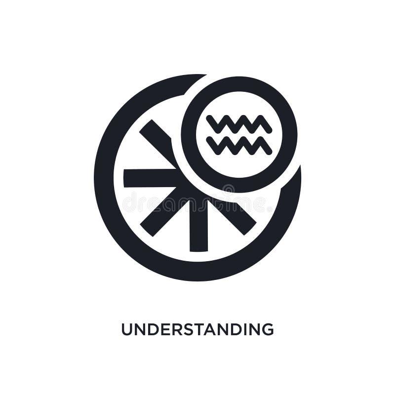 het begrip van geïsoleerd pictogram eenvoudige elementenillustratie van de pictogrammen van het dierenriemconcept het begrip van  stock illustratie