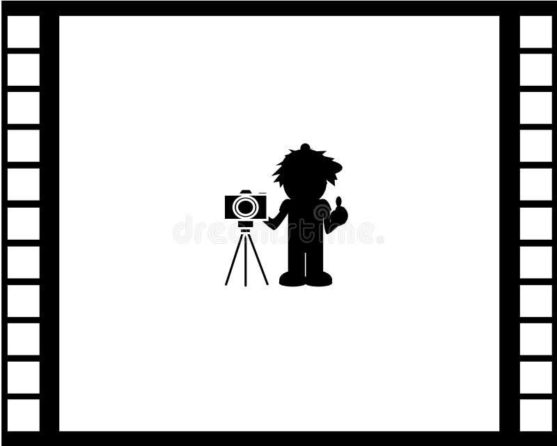 Het Behang van de camerafilm stock foto's