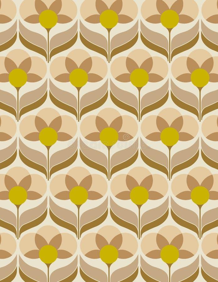 Betere Het Behangpatroon Van Jaren '60 Vector Illustratie - Illustratie MM-06