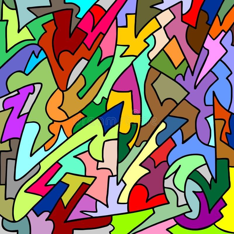 Het behang van de kleurenkunst vector illustratie
