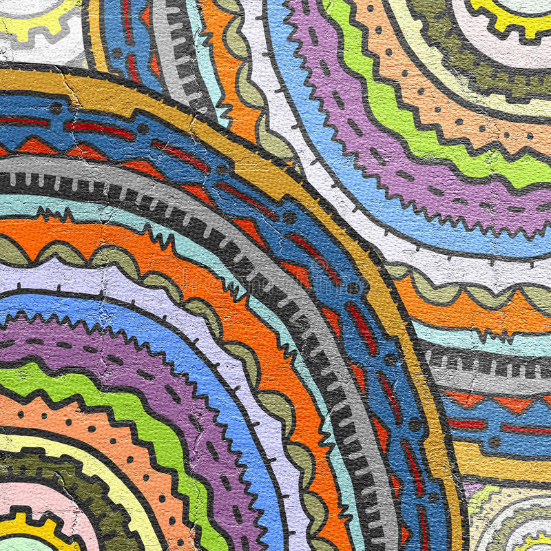 Het behang van de kleurenkunst stock illustratie