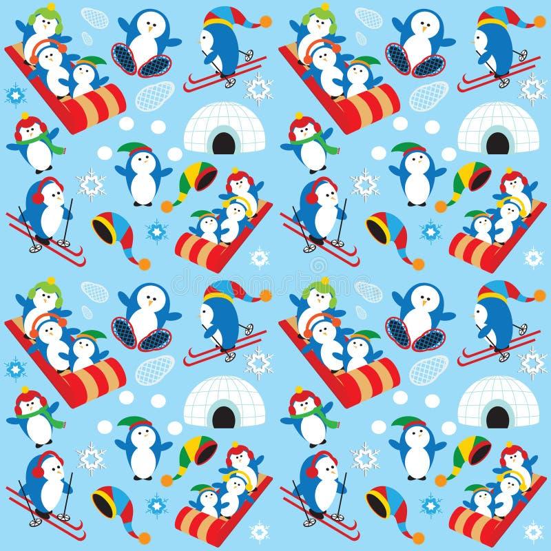 Het behang van de pinguïn stock illustratie