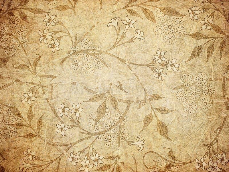 Het behang van Grunge met bloemenpatroon royalty-vrije illustratie
