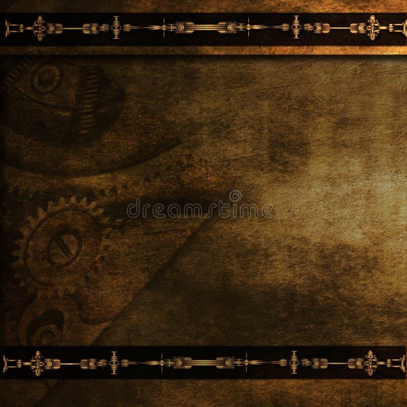 Het behangachtergrond van Steampunktoestellen royalty-vrije stock afbeeldingen