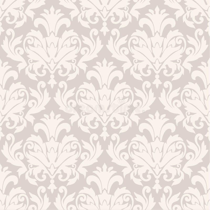 Het behangpatroon van het damast vector illustratie