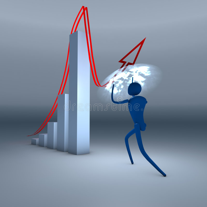 Het beheer van de crisis stock illustratie