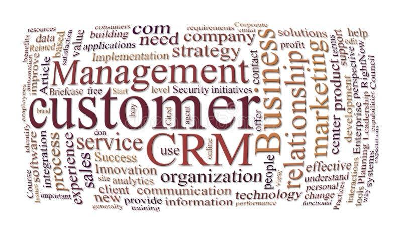 Het beheer van de klantenrelaties van Crm vector illustratie