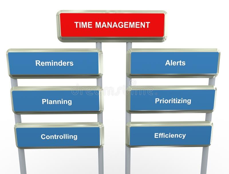 Het beheer van de tijd royalty-vrije illustratie