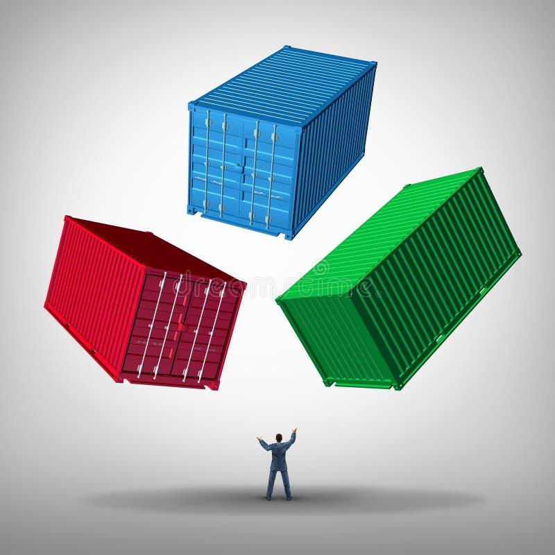 Het Beheer van de vrachtlading vector illustratie