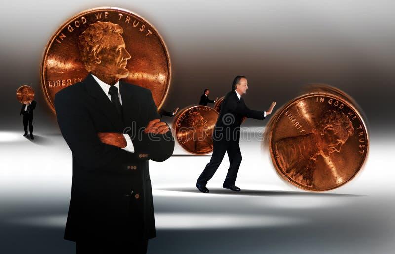 Het beheer van het geld stock afbeeldingen