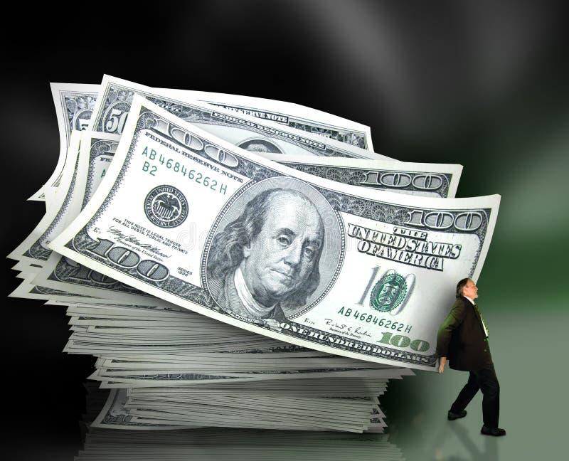 Het beheer van het geld stock foto