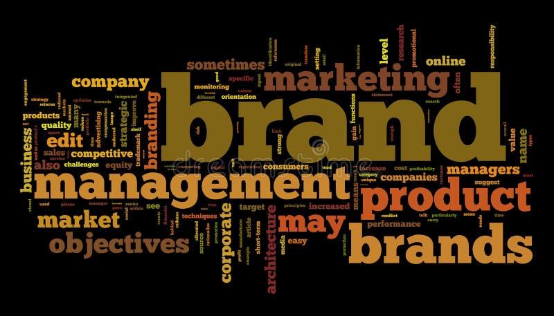 Het beheer van het merk vector illustratie