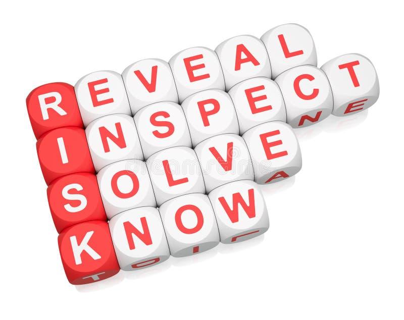 Het beheer van het risico stock illustratie