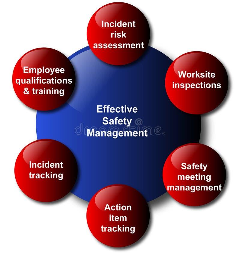 Het beheers model van de bedrijfs veiligheid diagram stock illustratie