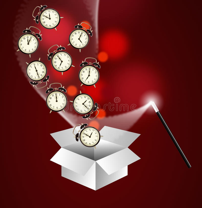 Het beheersconcept van de tijd stock afbeeldingen
