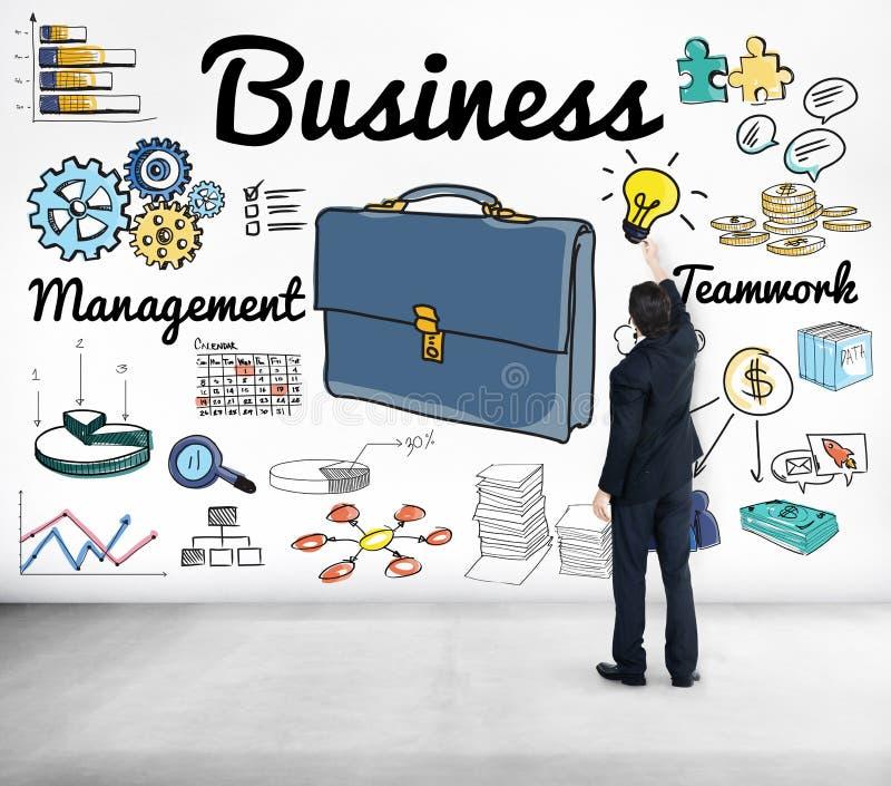 Het Beheersconcept van het bedrijfsstrategiegroepswerk stock illustratie