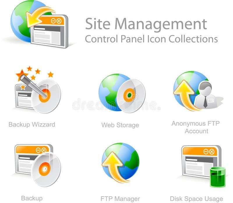 Het beheerspictogrammen van de website royalty-vrije illustratie