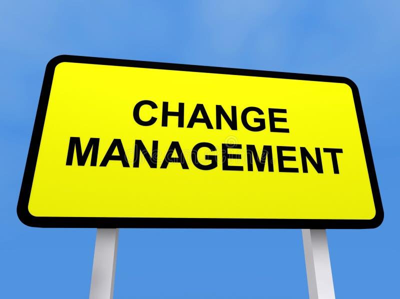 Het beheersteken van de verandering stock illustratie