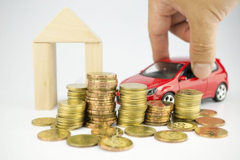 Het beheren van persoonlijke financiën, het in de begroting opnemen en pensioneringsbesparingen royalty-vrije stock foto's
