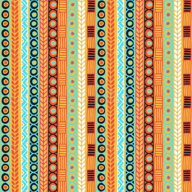 Het behoren tot een bepaald ras naadloos patroon Bohostijl Etnisch behang Stammenkunstdruk Oude abstracte grenzentextuur als acht stock afbeeldingen