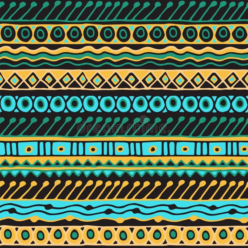 Het behoren tot een bepaald ras naadloos patroon Bohostijl Etnisch behang Stammenkunstdruk Oude abstracte grenzentextuur als acht stock illustratie