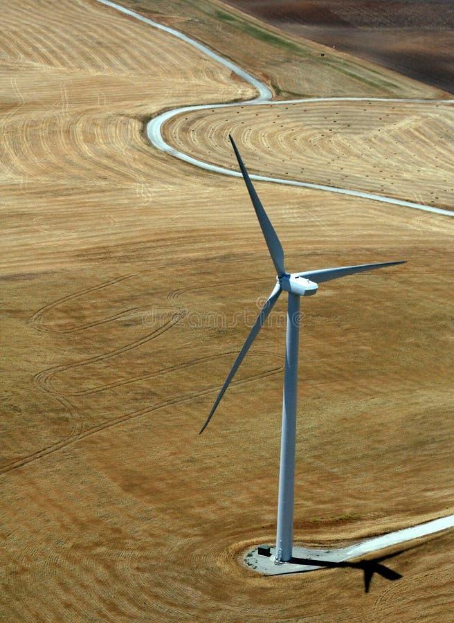 Het behoud van de energie - windmolen stock foto's