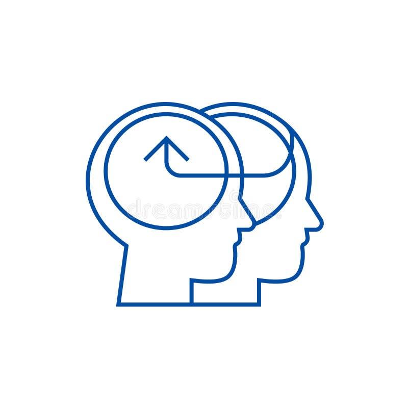 Het behulpzame menselijke concept van het lijnpictogram Behulpzaam menselijk vlak vectorsymbool, teken, overzichtsillustratie vector illustratie