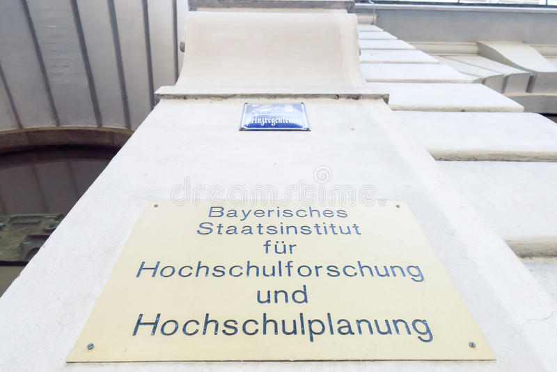 Het Beierse instituut van de staat voor universitair onderzoek royalty-vrije stock foto's