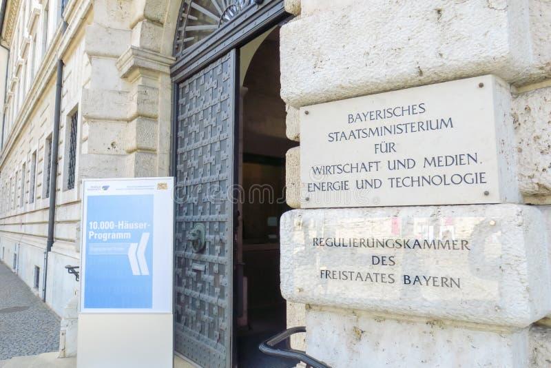 Het Beierse ministerie van de staat stock fotografie