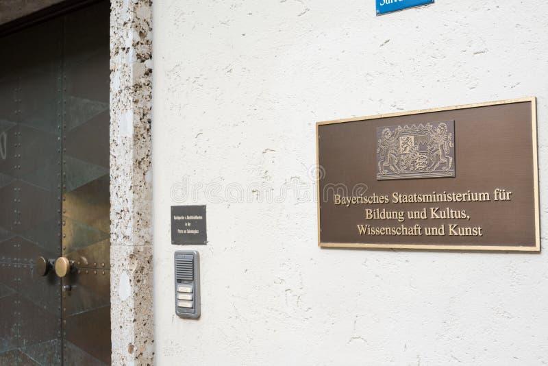 Het Beierse ministerie van de staat voor onderwijs royalty-vrije stock afbeelding
