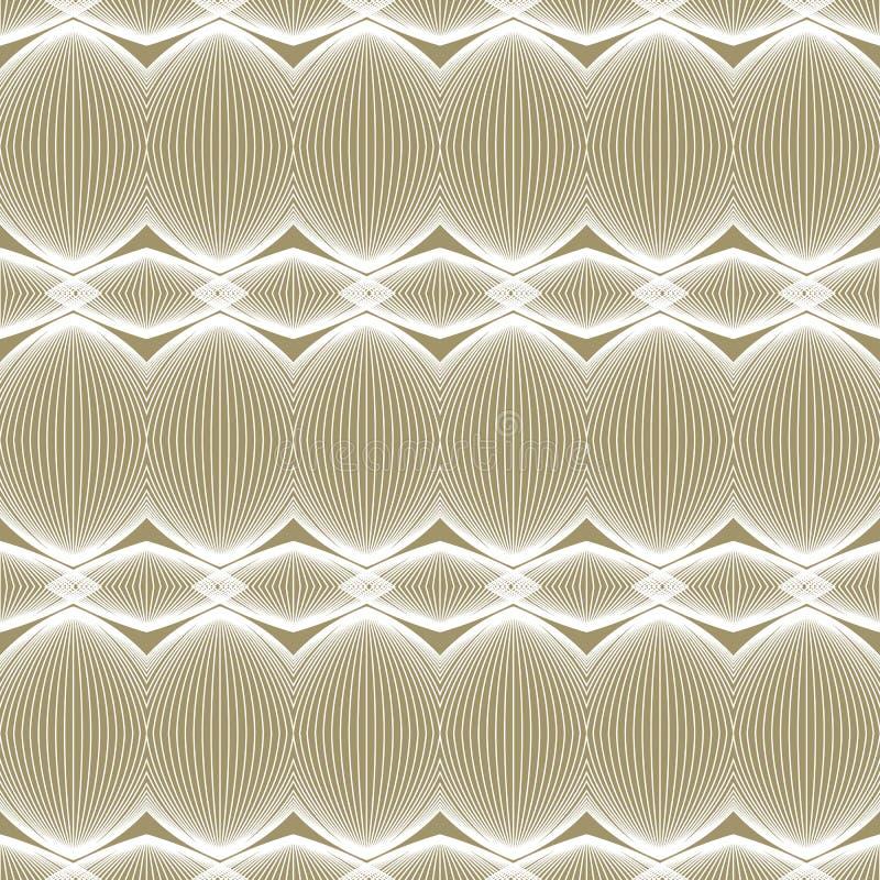Het beige en witte lineaire patroon van de luxe royalty-vrije illustratie