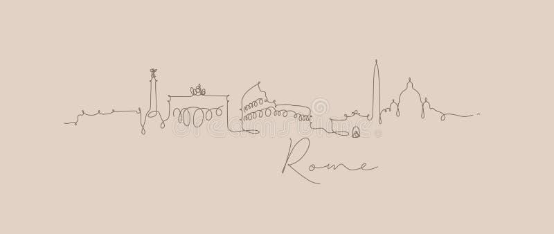 Het beige van het silhouetrome van de penlijn royalty-vrije illustratie