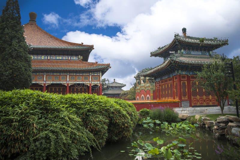 Het Beihaipark is een keizertuin royalty-vrije stock fotografie