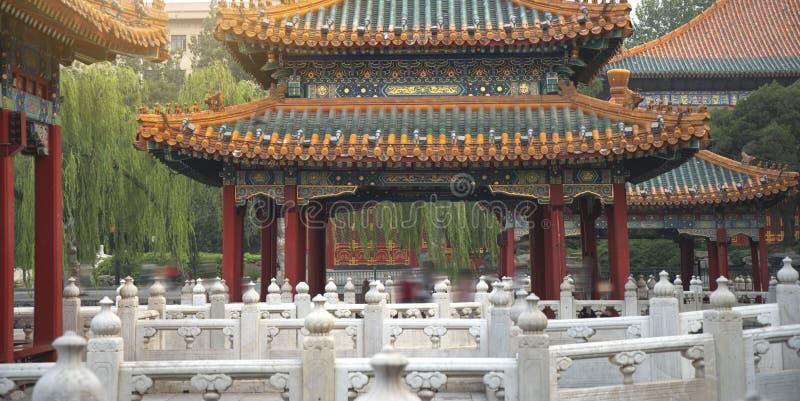 Het Beihaipark is een keizertuin stock foto's