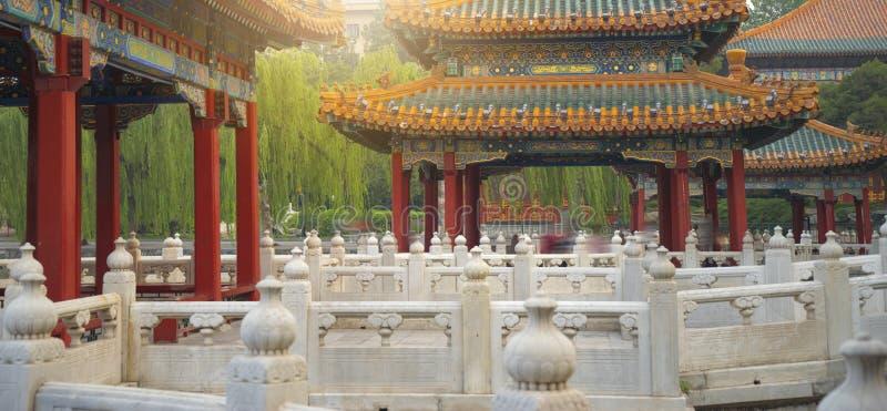 Het Beihaipark is een keizertuin stock foto