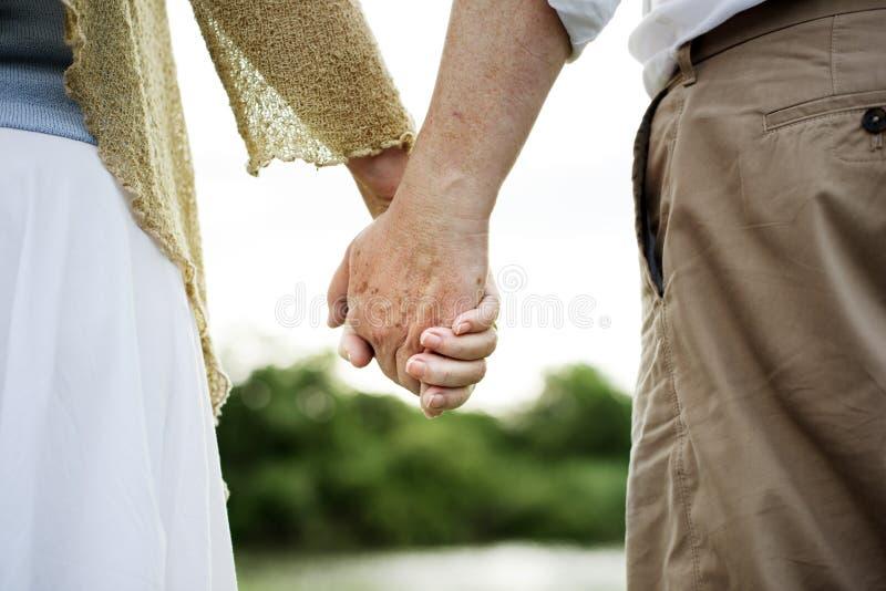 Het bejaarde Hogere Concept van de Paar Romaanse Liefde royalty-vrije stock afbeelding