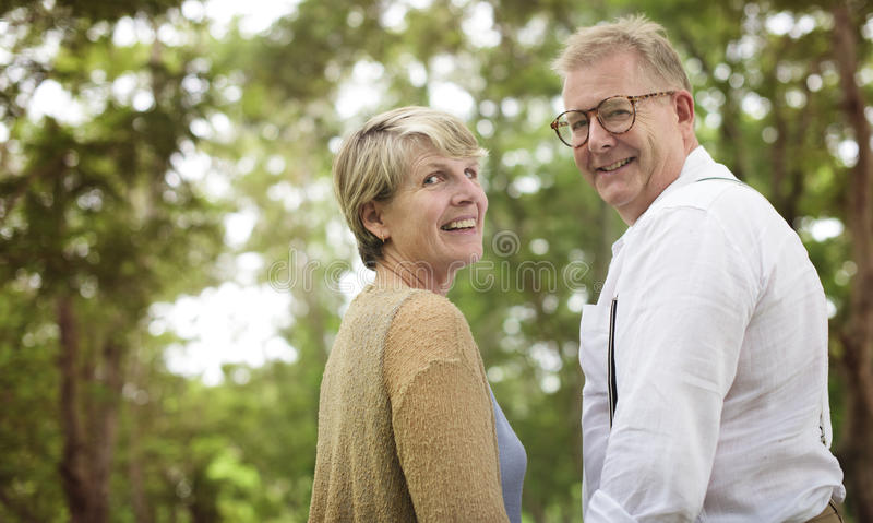 Het bejaarde Hogere Concept van de Paar Romaanse Liefde royalty-vrije stock foto's