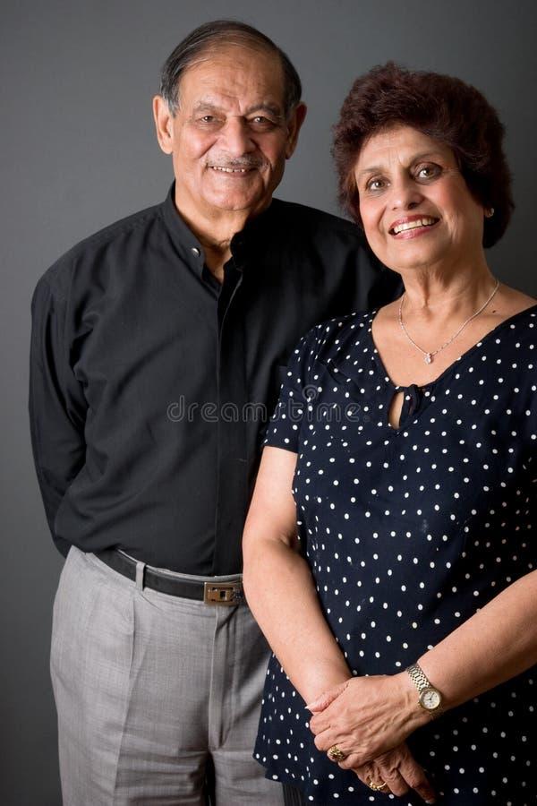 Het bejaarde Indische Paar van het Oosten royalty-vrije stock fotografie