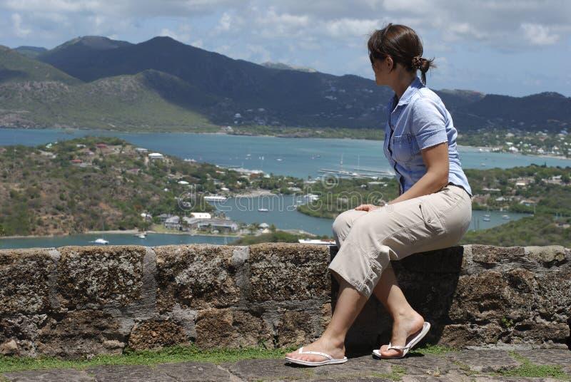 Het bekijken de Baai van Nelson stock fotografie
